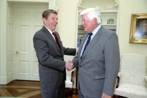 Ronald Reagan and Tip'Oneill